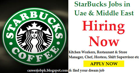 Latest Starbucks Jobs Uae Middle East