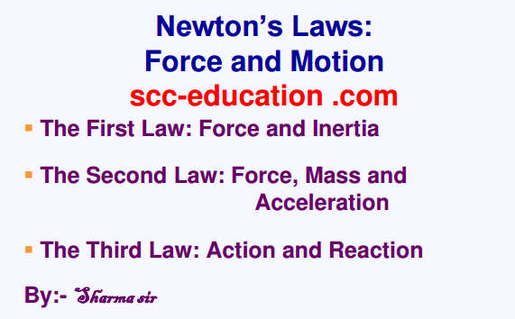 Newton's Laws: Force and Motion