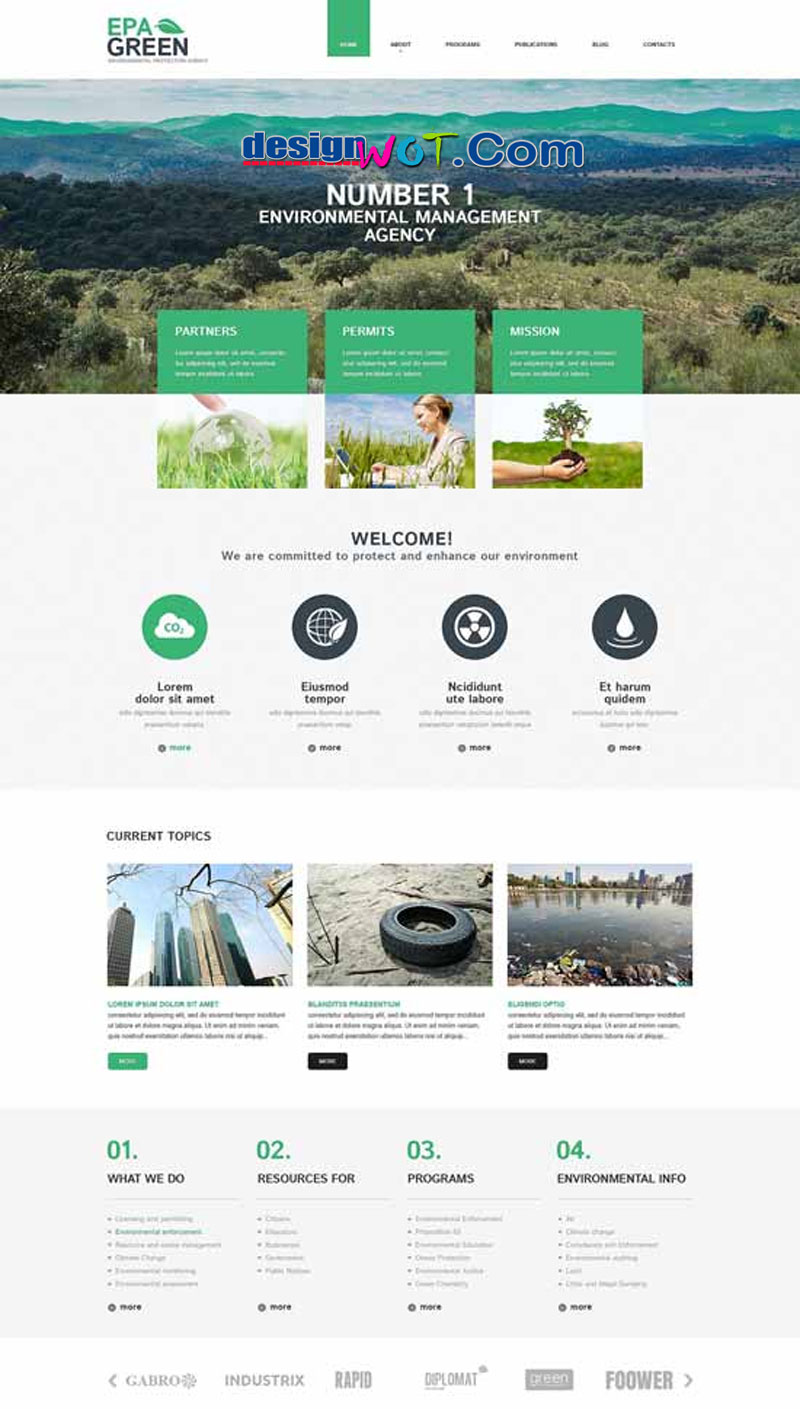 Epa Green Environmental Responsive WordPress Theme
