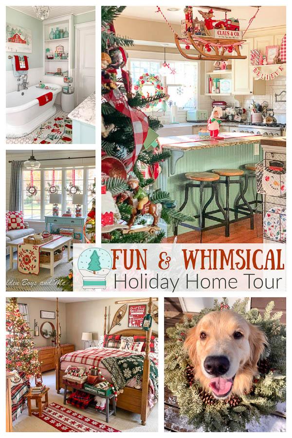 Whimsical holiday home tour - www.goldenboysandme.com