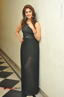 Actress Surabhi Stills in Black Long Dress at turodu Audio Launch  0137.JPG