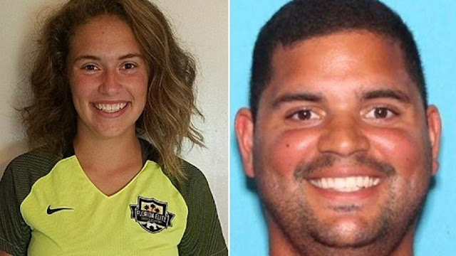 Caitlyn Frisina, left, was found in New York with Rian Rodriguez, right, the sheriff's office said on Twitter