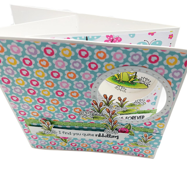 Polkadoodles Toadfully Cute - slider card by Lou Sims