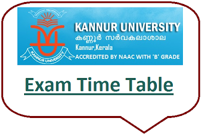 Kannur University Even Sem Time Table 2020