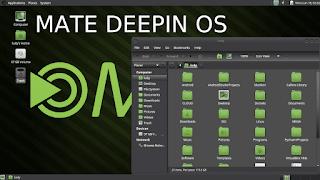 tampilan mate desktop pada deepin os
