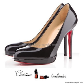 Queen Maxima wore Christian Louboutin pumps shoes, heels