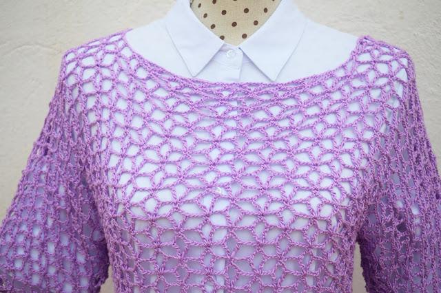 4 - Crochet Imagen Blusa playera a crochet y ganchillo por Majovel crochet