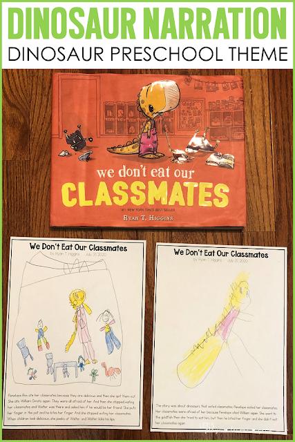 Dinosaur Book Narration Preschool Narration Activity