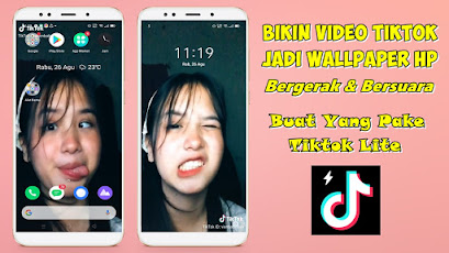 Cara Membuat Video Tiktok Jadi Wallpaper HP Di Tiktok Lite