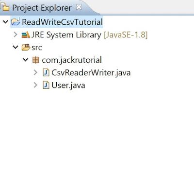 Project Structure of read and write csv files