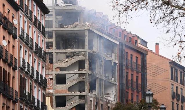 Forte explosão atinge prédio no centro de Madri com pelo menos 2 mortos