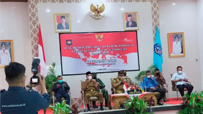 Forkopimda Bone Simak Arahan Presiden Jokowi Secara Virtual, Ini yang Dibahas