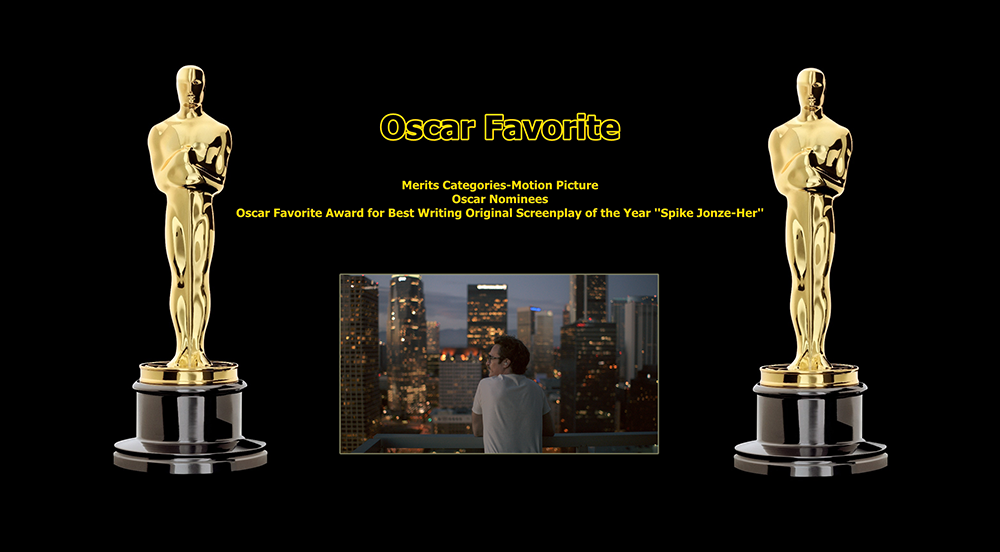 oscar favorite best writing original screenplay award spike jonze her
