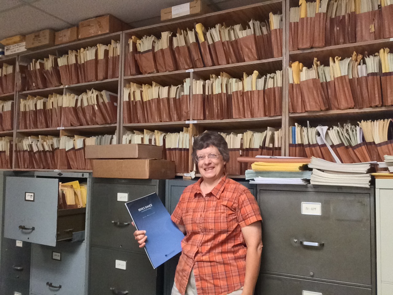 This librarian works in the music archives