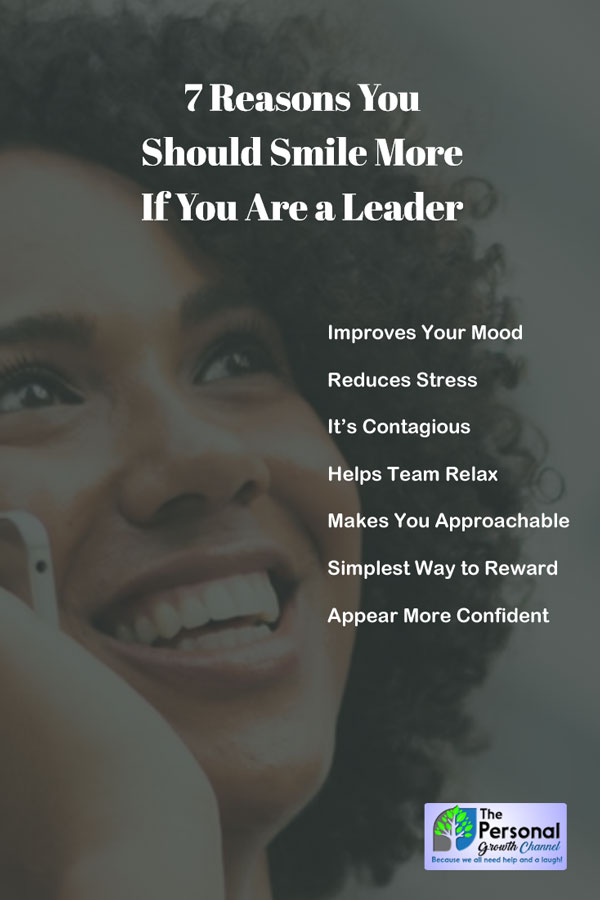 Reasons Why You Should Smile More if You Are a Leader - Woman smiling on the phone