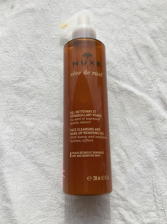 NUXE REVE DE MIEL FACE CLEANSING AND MAKE-UP REMOVING GEL İNCELEME YAZISI