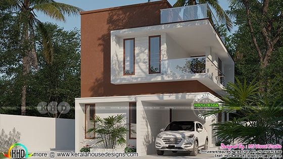 Day light view of modern house