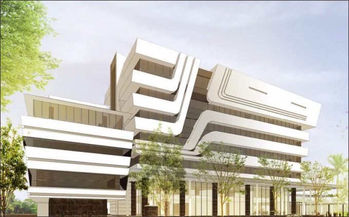 Desain gedung kantor pt pelindo
