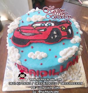 Kue Tart Ulang Tahun Cars Buttercream