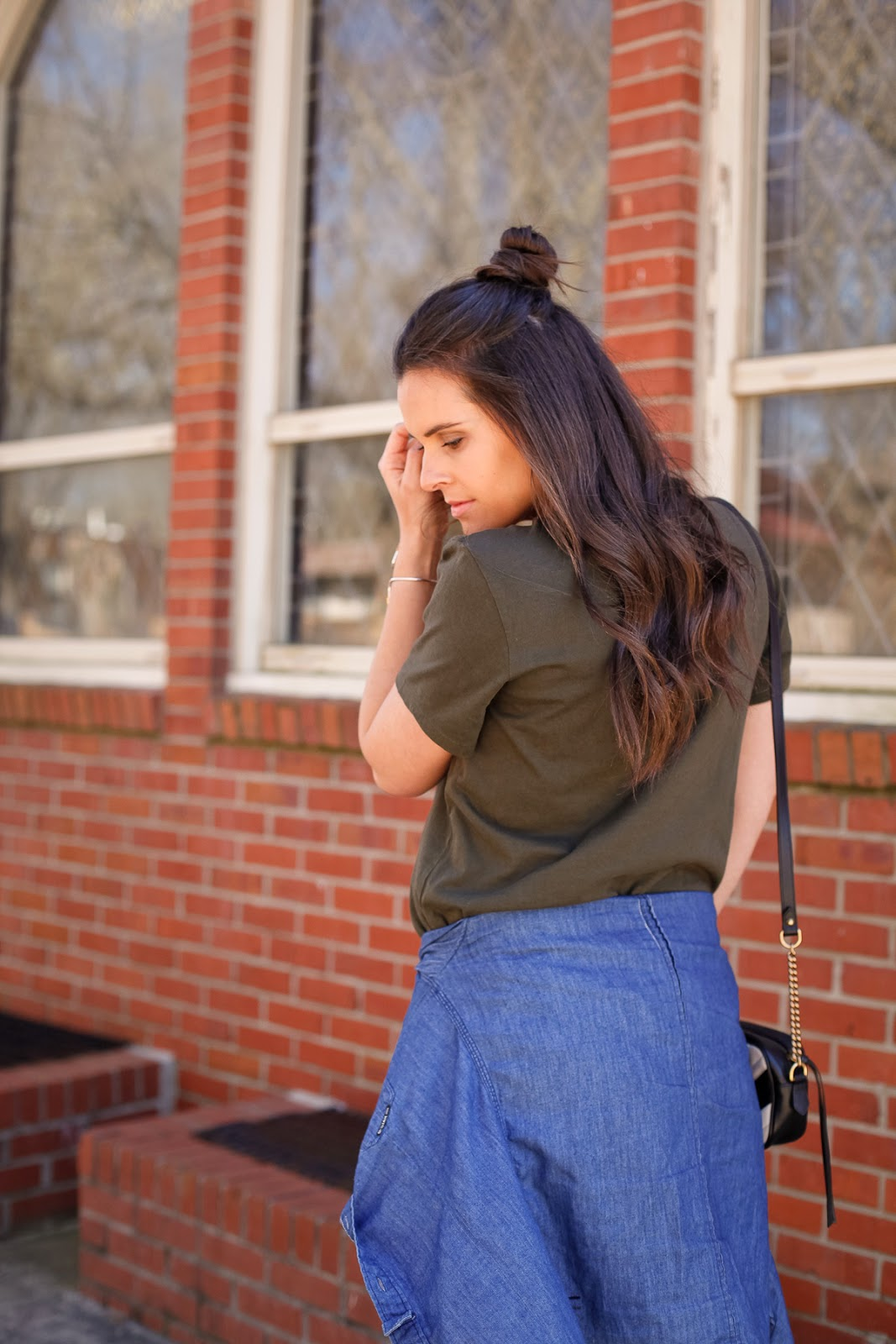 how to style a spring transition outfit