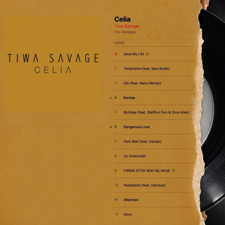 "[Album] Tiwa Savage – ""Celia"" #Arewapublisize"