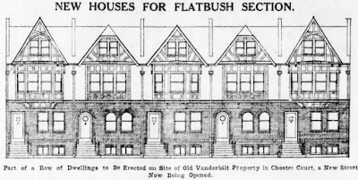 Architectural elevation of typical Chester Court houses