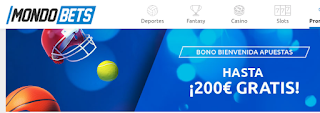 mondobets bono bienvenida 200€