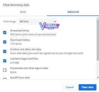 Cara Membersihkan Cache Laptop Pada Browser (Google Chrome)
