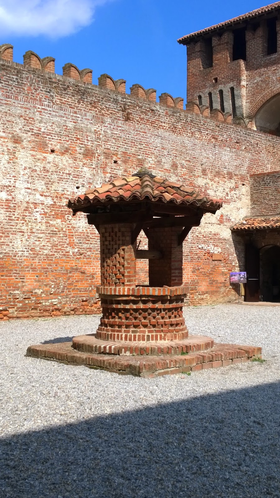 The well inside the Sforza castle at Soncino