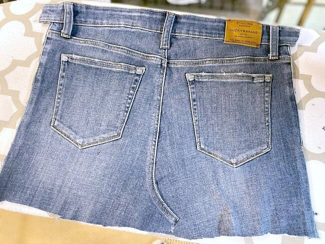 Back of pair of jeans