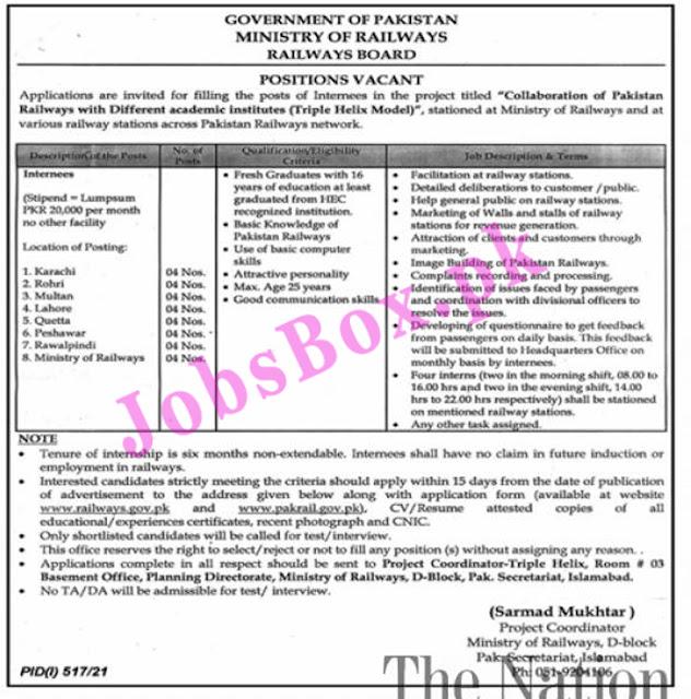 Ministry Of Railway Jobs 2021