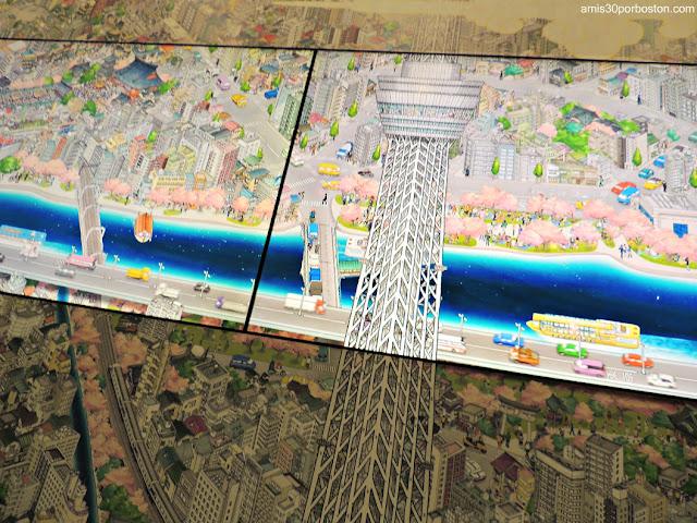 Sumida River Digital Picture Scroll en la Tokyo Skytree