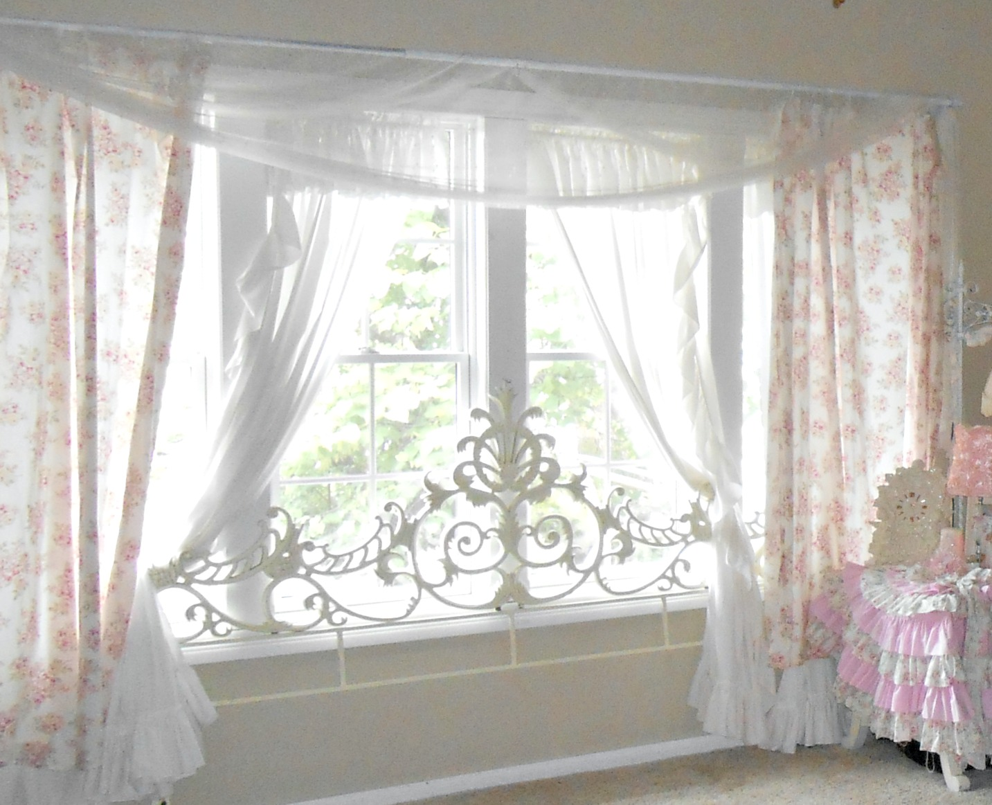 Olivia 39 S Home Shabby Chic Living Room For How To Make Curtains