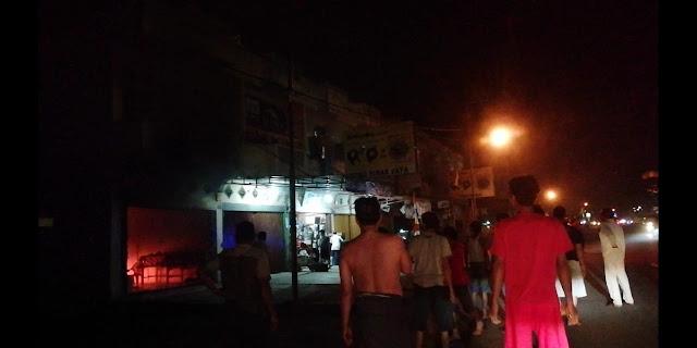 Breaking News : Bekas Warnet diruko 9 Tebo Terbakar, Berikut Video Amatirnya