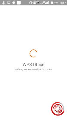 2. Default nya pasti akan membuka lewat aplikasi WPS Office. Namun terkadang bisa aplikasi lain bahkan ada yang tidak ada sama sekali jadinya kita perlu download aplikasi serupa di Play Store