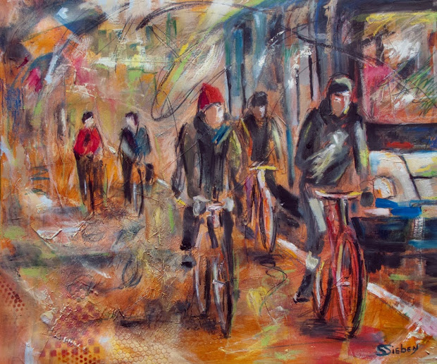 Abstract Bicycle Painting