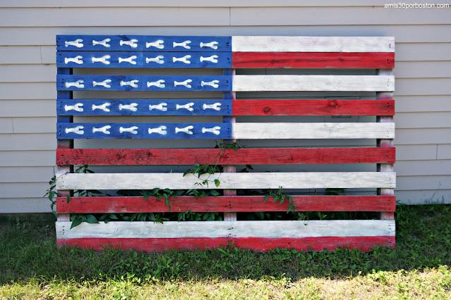 Bandera de Estados Unidos al Estilo de Maine
