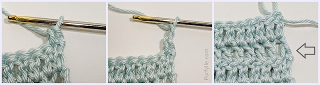 Starting Double Crochet Single Crochet, Chain Two Method