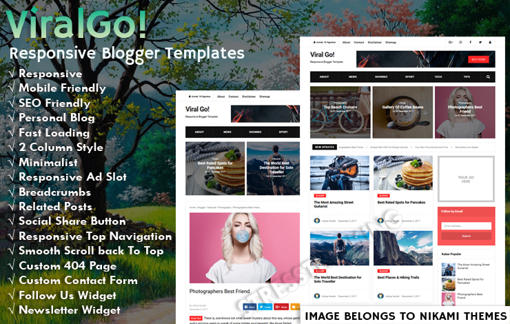 Viral Go!  Pro Responsive Blogger Template New up