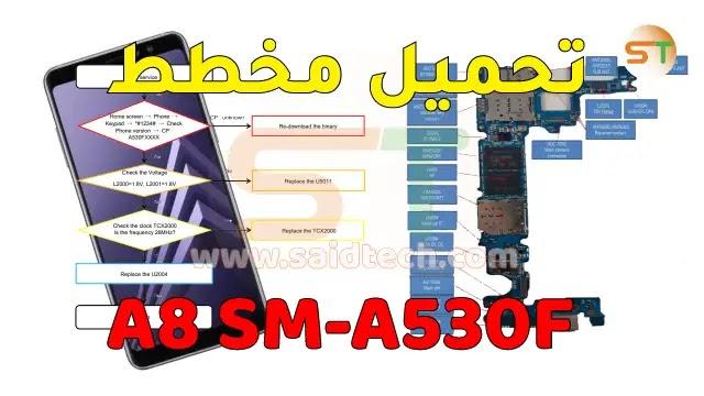 مخطط Samsung A8 - SM-A530F Schematics