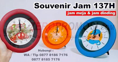 Souvenir Jam 137H Promosi, Merchandise Usaha dan Seminar Anda, Barang Promosi Jam Dinding Perusahaan, Souvenir Jam 137H Termurah