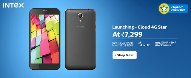 Intex Cloud 4G Star Smartphone Launched Today