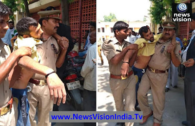 Human Act Police Inspector Carrying Accuse To Court Uttar Pradesh
