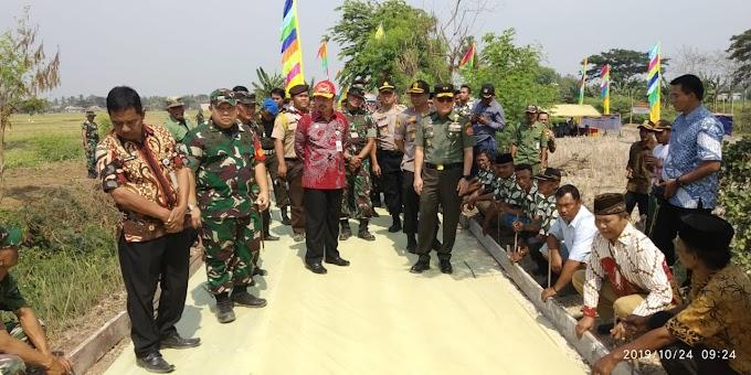 Aster Panglima TNI Wasev di lokasi Kegiatan TMMD 106 TA. 2019 Kodim 0509/Kab. Bekasi