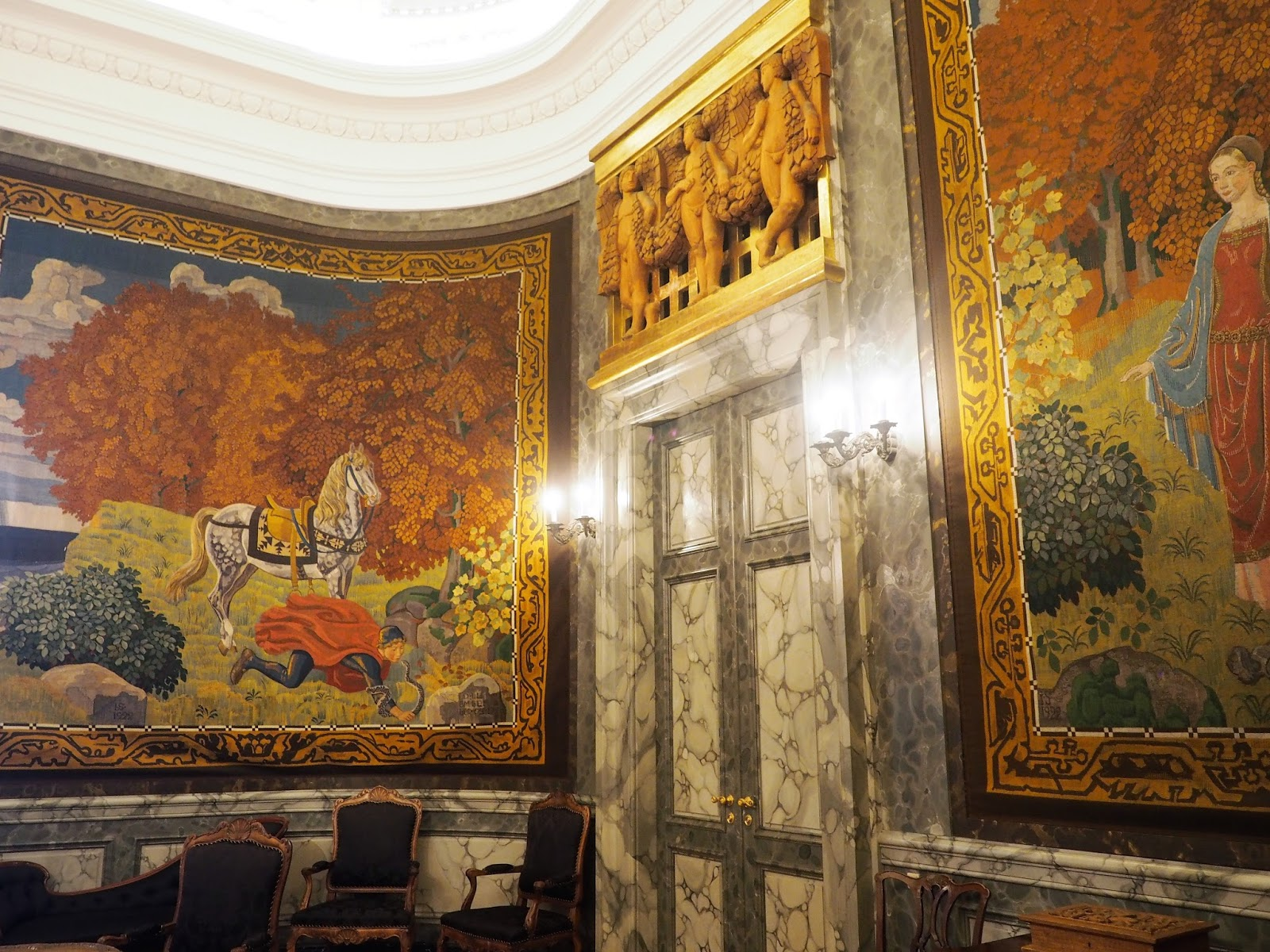 Tapestries at Christiansborg Palace, Copenhagen