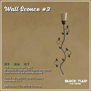 [Black Tulip] Mesh - Wall Sconce #3