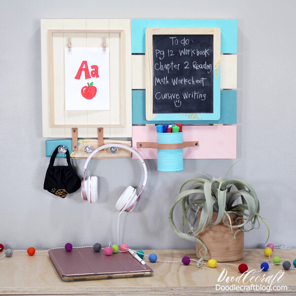 Make a DIY command center organizer for staying on track now that we are back in school.
