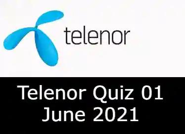 1 June Telenor Answers Today   Telenor Quiz Today 1 June 2021