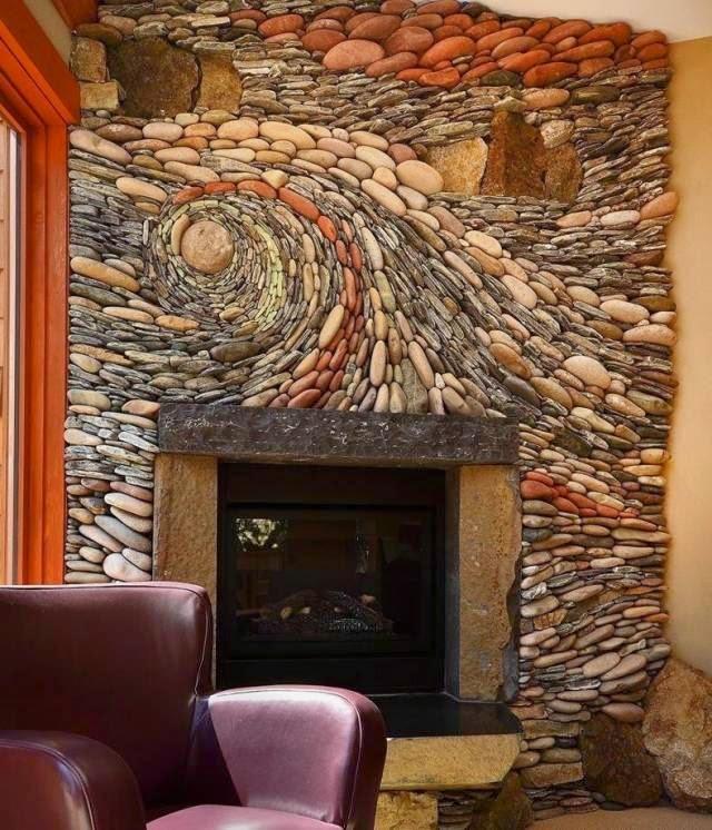 Unique Mosaics Stone Adorn Interior And Exterior Walls