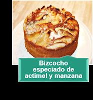 BIZCOCHO ESPECIADO DE ACTIMEL Y MANZANA